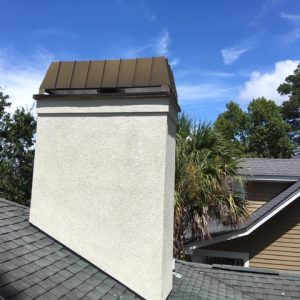 stucco chimney