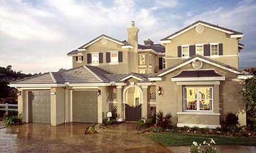 stucco home